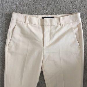 Zara Pale Yellow Cigarette Trousers